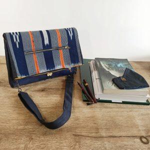 AossyParis - Béatrice Monné - Création -sac SIN-SHI - bleu marine verni