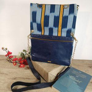 AossyParis - Béatrice Monné - Création -sac SIN-SHI - bleu pétrole
