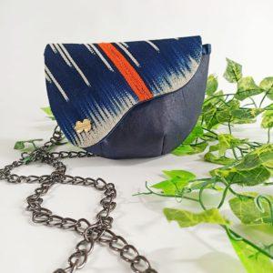 AossyParis - Béatrice Monné - Création -sac banane YAYA - bleu marine