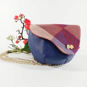 AossyParis - Béatrice Monné - Création -sac banane YAYA - bleu violet